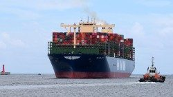 World's largest container ship docks at Kaohsiung Harbour