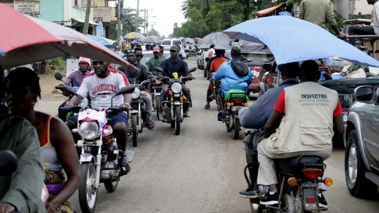 Motorcycle taxis in Monrovia