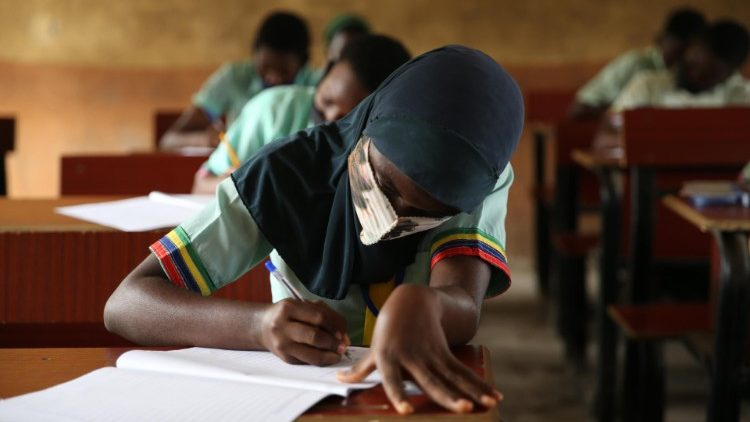 Students at school in Nigeria