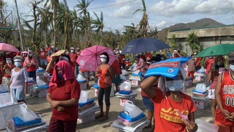 Non-food relief items being distributed to Filipinos hit by Typhoon Goni