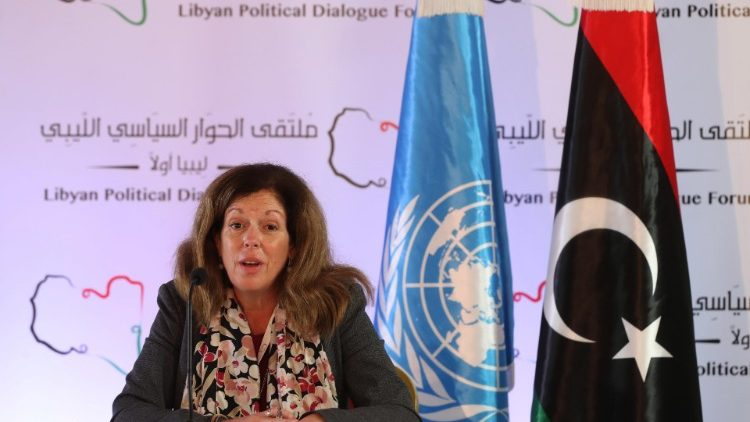 Un Acting envoy to Libya speaks during a press conference in Tunis