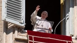 Pope Francis delivers the Angelus prayer
