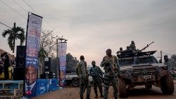 Central African Republic forces patrol the streets to provide security amid rising insecurity and violent clashes