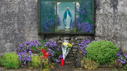 Shrine set up at mother-and-baby home in Tuam, Ireland