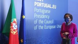 Portugal's Justice Minister arrives for a press conference in Lisbon