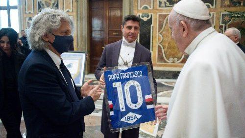 Le Pape encourage les joueurs de la Sampdoria Gênes à cultiver l'esprit d'équipe