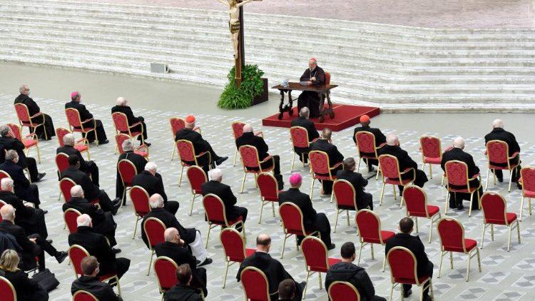Cardinal Cantalamessa preaches the third sermon for Lent 2021