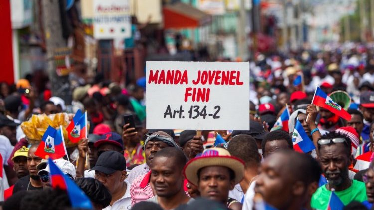 A protest in Port-au-Prince demanding President Jovenel Moise step down.