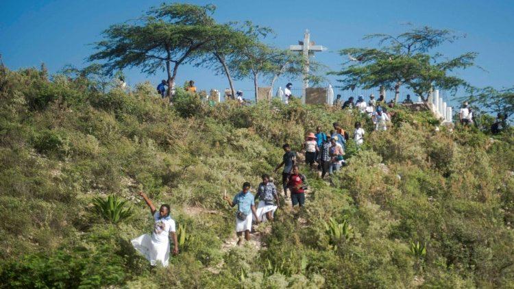 Célébrations de la Semaine Sainte à Port-au-Prince, Haïti en 2021.