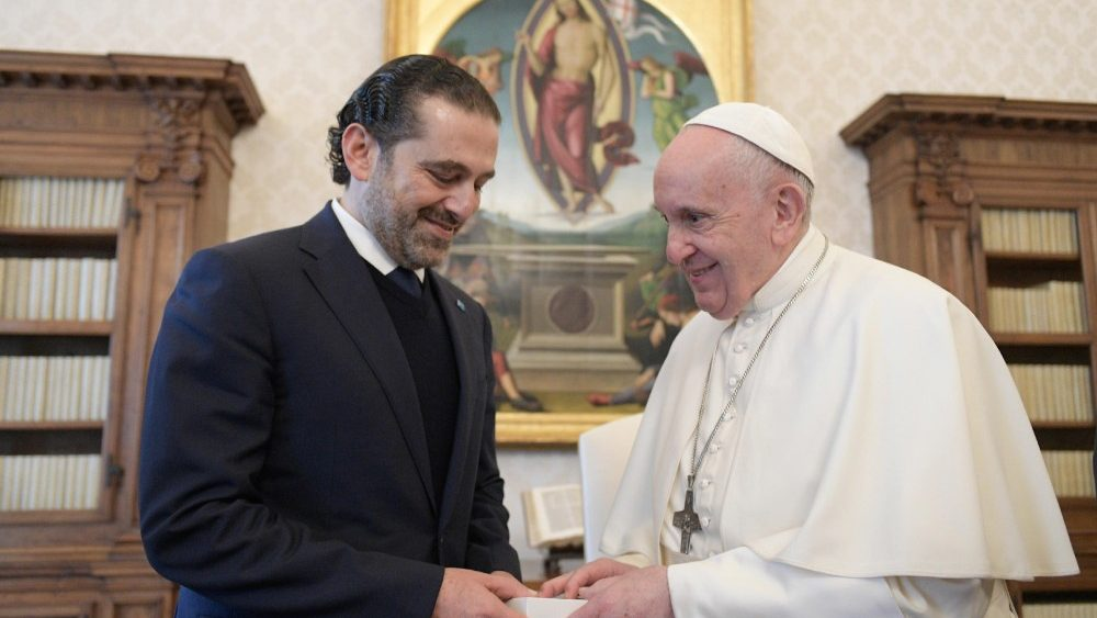 Pope Francis receives Saad Hariri
