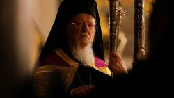 Greek Orthodox Ecumenical Patriarch Bartholomew of Constantinople leads a service in Istanbul-vatican delegation