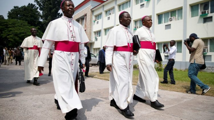 CENCO Bishops arrive to mediate talks between the opposition and the government of President Joseph Kabila in the Democratic Republic of Congo's capital Kinshasa