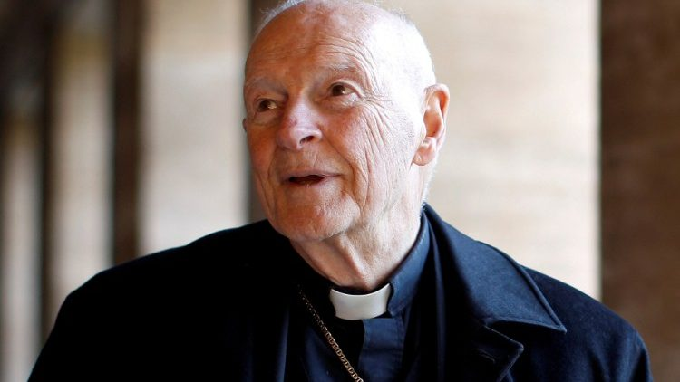 FILE PHOTO: Cardinal Theodore Edgar McCarrick during an interview with Reuters at the North American College at the Vatican