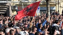albania-s-national-flag-is-pictured-during-an-1550757560169.JPG