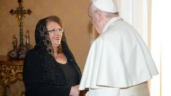 Pope Francis meets with President of Malta, Marie-Louise Coleiro Preca, at the Vatican