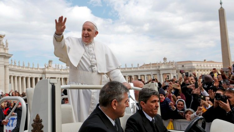Pope Francis holds the Wednesday general audience at the Vatican