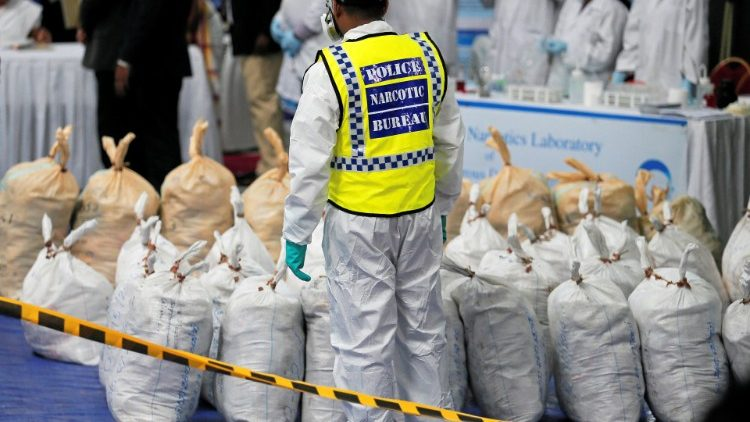 A haul of narcotics seized in Colombo was destroyed by the Sri Lanka Police Narcotics Bureau on April 1, 2019.