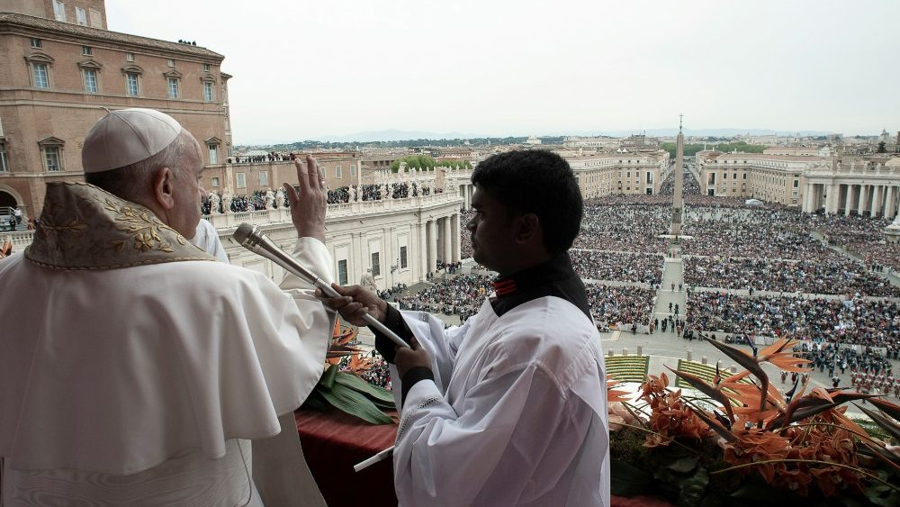 Pope Francis leads the Easter Mass at St. Peter's Square