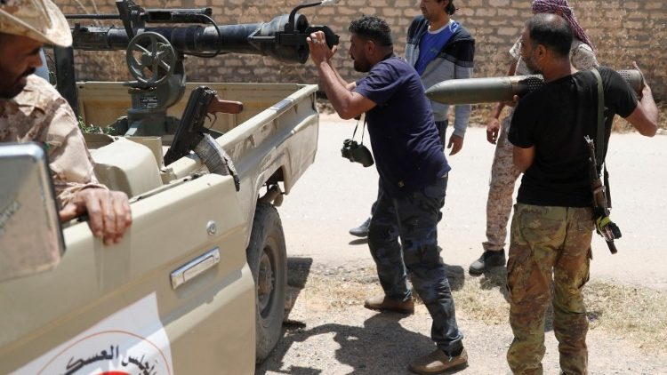 Combattimenti in Libia - foto di archivio