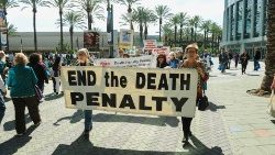 Demonstrators protest the death penalty in Southern California