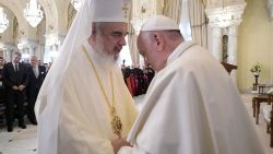 Pope Francis and the Romanian Orthodox Patriarch Daniel