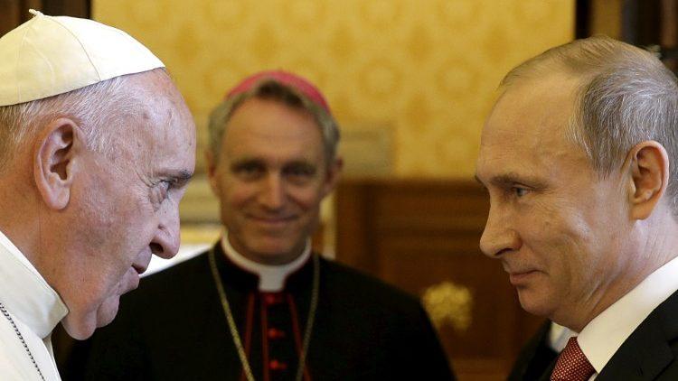 Papa Francisco y Presidente Putin