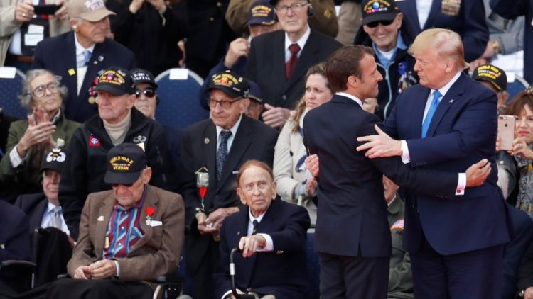 Presidents Trump and Macron among veterans at 75th anniversary of D-Day in Normandy