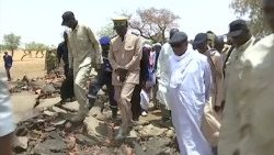 President Ibrahim Boubacar Keita visiting the Dogon village of Sobane Da