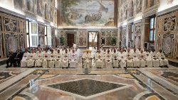 Pope Francis meets with members of the Order of the Most Holy Trinity for the redemption of Captives