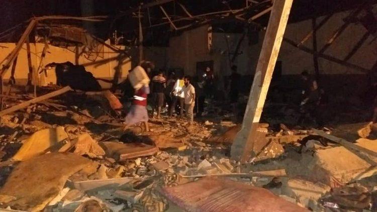Il luogo della strage a Tripoli