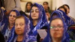 Iraqi Christians attend Mass to re-inaugurate an ancient church in Basra