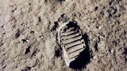 One of the first footprints on the moon