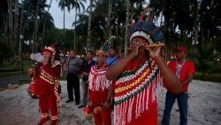 Suriname indigenous people pray for the protection of the Amazon