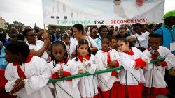 Young Altar Servers in Maputo: Pope Francis recently visited Mozambique and encouraged the peace process