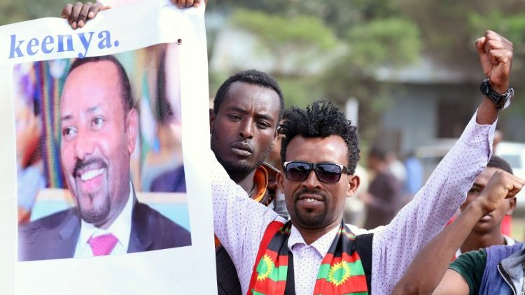 Celebration for Ethiopia's PM Ahmed after he won Nobel Peace Prize in Ambo
