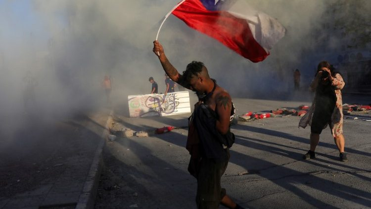 Protestos no Chile