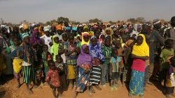 Displaced people in Dablo village of Burkina faso