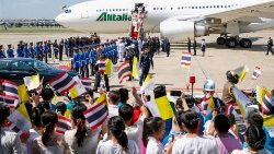 POPE-THAILAND/ARRIVAL
