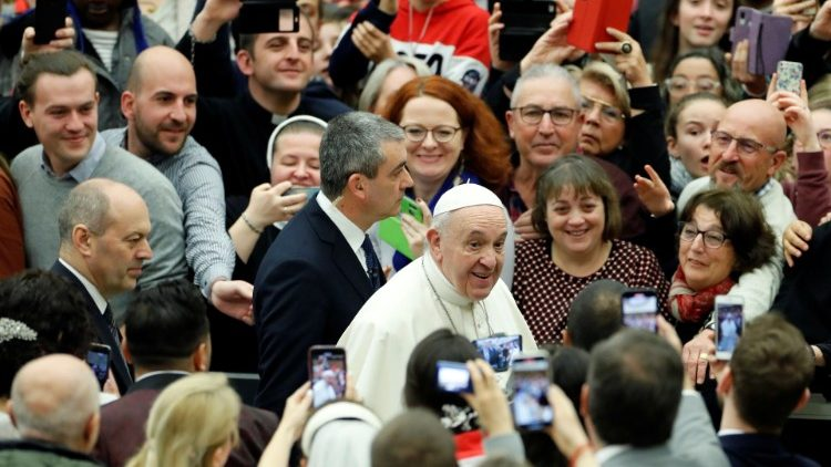 Pope Francis  at the weekly general audience at the Vatican, 12.01.2020.
