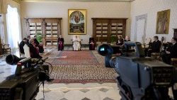 Pope Francis' Audience from the Library of the Apostolic Palace