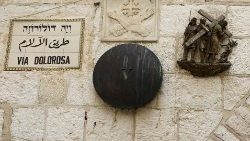 One of the Stations of the Cross along the Via Dolorosa, Jerusalem