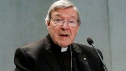 FILE PHOTO: Cardinal George Pell attends a news conference at the Vatican