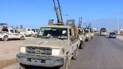 Libyan military vehicles