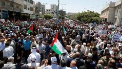 Palestinians protest Israeli plan to annex a portion of Palestinian occupied territory
