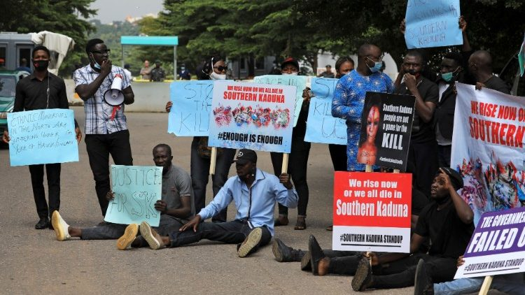 Young Nigerians protest in Abuja against killings in southern Kaduna