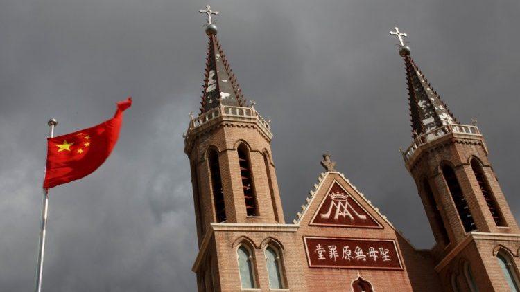 Église de Huangtugang, province du Hebei, Chine