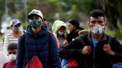 Migrants walking toward the border between Venezuela and Colombia in October of last year.