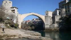 A view of the Old Bridge in Mostar, where local elections were held on Sunday