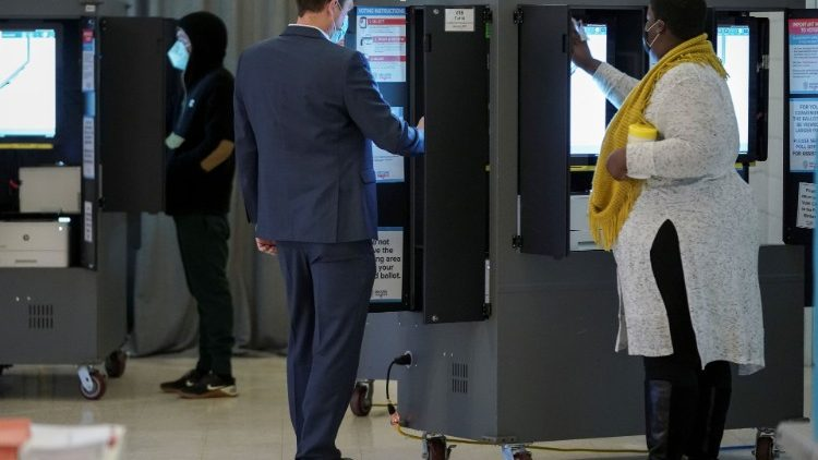 Voters cast their ballots in Georgia's Senate runoff elections