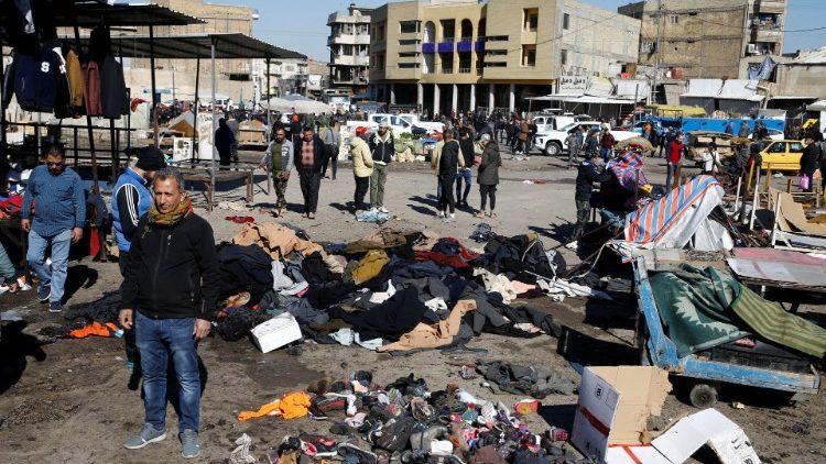 Hiện trường vụ đánh bom tự sát